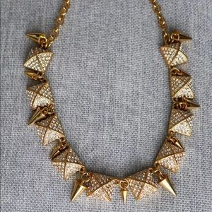 CC Skye Gold Crystals Heiress Toggle Necklace